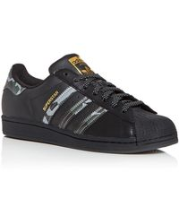 adidas Superstar Low Top Trainers - Black