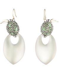 Alexis Bittar - Crystal Encrusted Lime Drop Earrings - Lyst