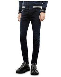 The Kooples Raw Slim Fit Jeans In Blue