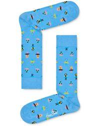 Happy Socks Hula Dance Socks - Blue