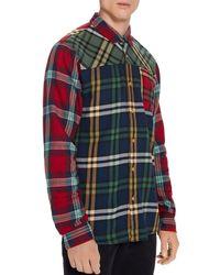 Scotch & Soda - Patchwork Check Regular Fit Shirt - Lyst