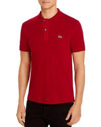 Lacoste Petit Piqué Slim Fit Polo Shirt - Red