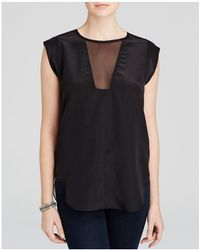 Rebecca Taylor | Charlie Silk Top | Lyst