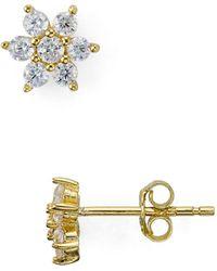 Aqua - Flower Stud Earrings - Lyst