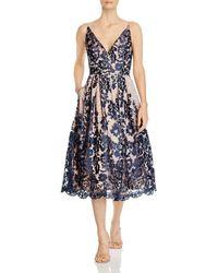 Eliza J V - Neck Lace Dress - Blue