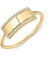 Moon & Meadow 14k Yellow Gold Diamond Bar Ring - Metallic