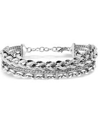 John Hardy Asli Triple Row Chain Cuff - Metallic