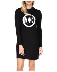 MICHAEL Michael Kors Circle Logo Hoodie Dress - Black