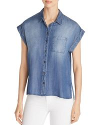 Velvet Heart Chambray Shirt - Blue