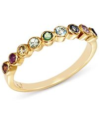 Shebee - 14k Yellow Gold Multicolor Sapphire Band - Lyst