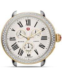 Michele - Serein Two - Tone Diamond Watch Head - Lyst