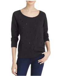 Aqua Distressed Sweatshirt - Black
