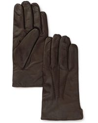 Bloomingdale's Cashmere Lined Leather Gloves - Brown