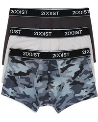 2xist 2(x)ist Mesh No - Show Boxer Trunks - Pack Of 3 - Gray