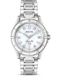 Bulova - Marine Star Link Bracelet Watch - Lyst