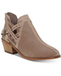 Vince Camuto Women's Pranika Perforated Booties - Natural