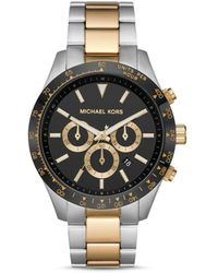 Michael Kors Oversized Layton Two-tone Watch - Multicolor