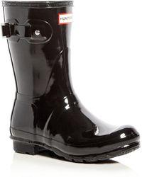 HUNTER - Original Short Gloss Rain Boots - Lyst