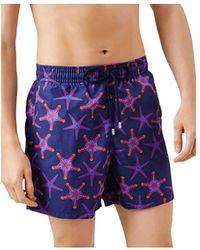 Vilebrequin Moorea Starfish Print Swim Shorts - Blue