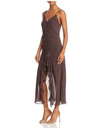 Cotton Candy - Ruffled Striped Maxi Dress - Lyst