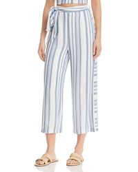 Lost + Wander Lost + Wander Daiquiri Cropped Tie - Front Pants - Blue