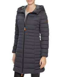 Save The Duck - Packable Quilted Long Puffer Coat - Lyst