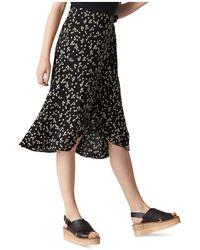 Whistles - Daisy Print Wrap Skirt - Lyst