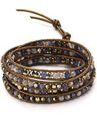 Chan Luu Garnet Wrap Bracelet In Sterling Silver - Multicolour