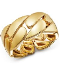 Roberto Coin 18k Yellow Gold Gourmette Cuff Bangle - Metallic
