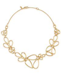 Bloomingdale's Pear - Shaped Link Necklace In 14k Yellow Gold - Metallic