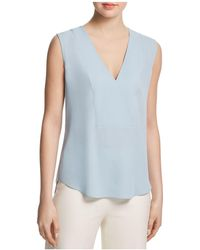 Theory - Silk Crossover Top - Lyst