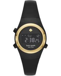 Kate Spade Rumsey Digital Silicone Strap Watch - Black