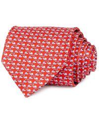 Ferragamo Snail Love Silk Classic Necktie - Red