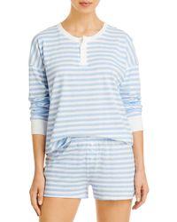 Aqua Pajama Shorts Set - Blue