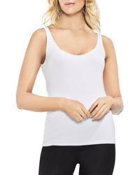Vince Camuto Scoop Neck Tank - White