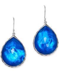 Ippolita - Sterling Silver Rock Candy® Wonderland Teardrop Earrings In Ultramarine - Lyst