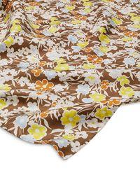 Tory Burch Lucky Meadow Silk Twill Neckerchief - Multicolor