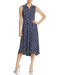 Kate Spade - Cloud Dot-print Midi Dress - Lyst