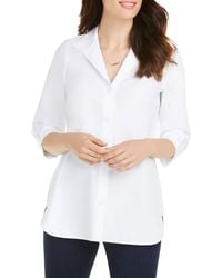 Foxcroft Non - Iron Cotton Shirt - White