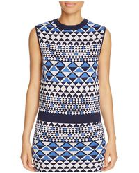 Cupcakes And Cashmere - Ron Geo Print Top - Lyst