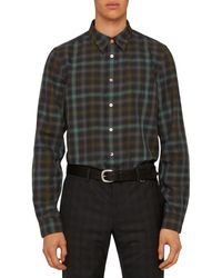 PS by Paul Smith Tailored Plaid Shirt - Blue