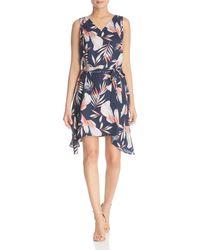 Vero Moda - Maharete Printed Flutter Dress - Lyst