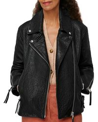 Whistles - Lily Leather Moto Jacket - Lyst