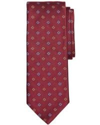Brooks Brothers - Two-tone Floral Silk Classic Tie - Lyst