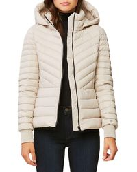 SOIA & KYO Chalee Hooded Down Jacket - Natural