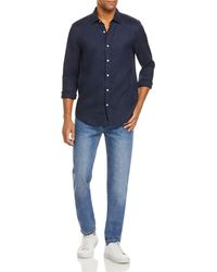 Bloomingdale's The Store At Bloomingdale's Linen Regular Fit Button - Down Shirt - Blue