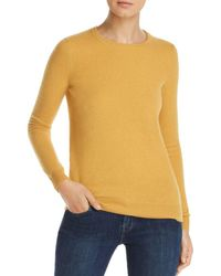 C By Bloomingdale's Crewneck Cashmere Sweater - Yellow
