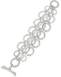 Robert Lee Morris - Multi Row Circle Link Toggle Bracelet - Lyst