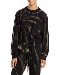 Pam & Gela Tie Dyed Cropped Sweatshirt - Black