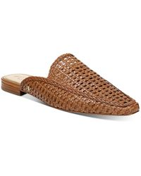 Sam Edelman Women's Elva Slip On Woven Mule Flats - Brown